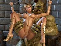 Atak potworów i seks zdjęcia z elfami